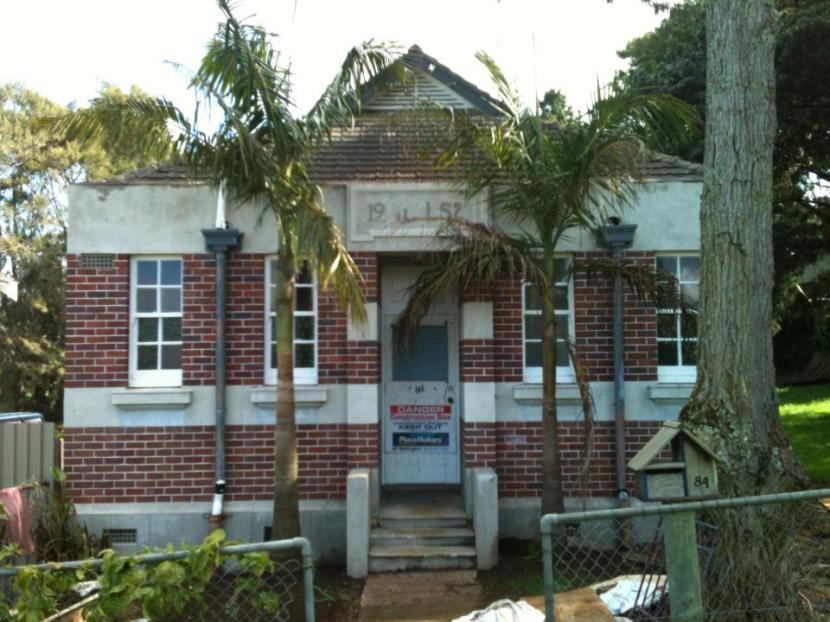 Bangalow Palms - Newly transplanted at No.84.